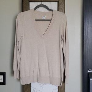 JCREW Vneck Cotton Sweater